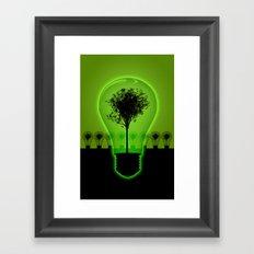 BulB Tree Framed Art Print