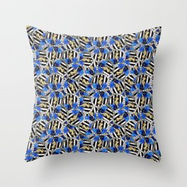 Nautical Striped Sequin Seahorse Toss Throw Pillow