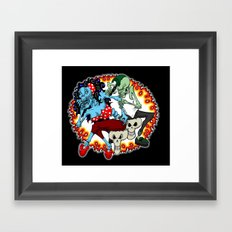 tattooing zombies Framed Art Print