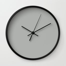 Silver foil - solid color Wall Clock