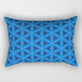 Blue Snake Scales Pattern Rectangular Pillow
