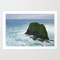 Ocean Cliffs Art Print