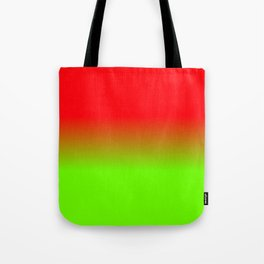 Neon Red and Neon Green Ombré  Shade Color Fade Tote Bag