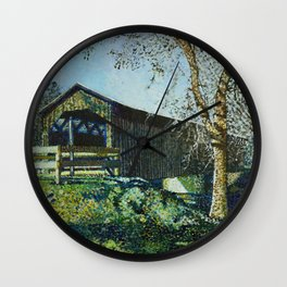Cedarburg Covered Bridge Wall Clock