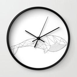 Geometric Whale Wall Clock