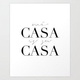 HOME DECOR,Home Sweet Home Sign,Mi Casa Es Su Casa,Modern Art,Spanish Decor,Spanish Sign,Home Sign Art Print