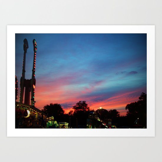 Fire over the Midway Art Print