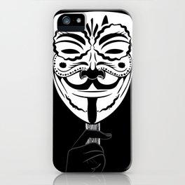 Guy Fawkes Sugar Skull iPhone Case