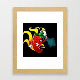pepper gas cartoon Framed Art Print