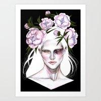 sasha grey Art Prints featuring Sasha by Rose Ellen Swenson