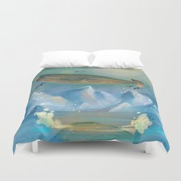 Flying Narwhals Duvet Cover