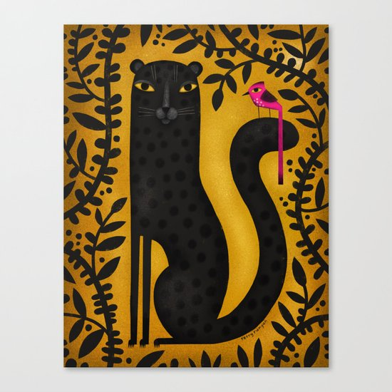 PANTHER PERCH Canvas Print