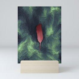 Flamingo In A Storm Mini Art Print
