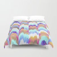 glitch Duvet Covers featuring Glitch by Elisabeth Fredriksson