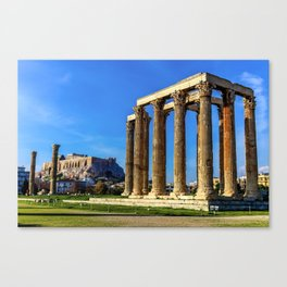 ruins of ancient temple of Zeus, Athens, Greece, HDR photo Canvas Print