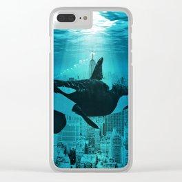 Orcas in Manhattan Clear iPhone Case