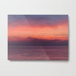 Sunset in Piran Metal Print