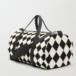 Chess board gold plated Duffle Bag