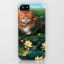 """Mosky Cat """"Waterlily"""" iPhone Case"""