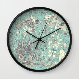 Deep Sea Green Wall Clock