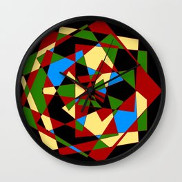 Shattered Multi-Color Geometric Wall Clock