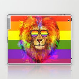 Rainbow Lion Pride Laptop & iPad Skin