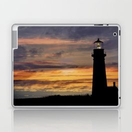Newport Oregon - Setting Sun Laptop & iPad Skin
