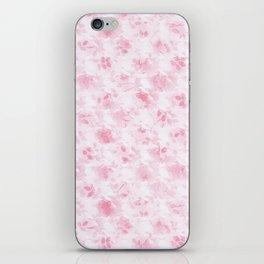 Vintage blush pink white elegant roses floral iPhone Skin