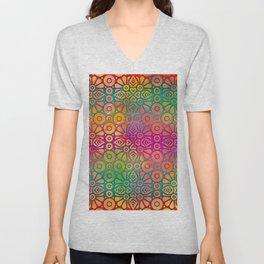 DP050-2 Colorful Moroccan pattern Unisex V-Neck