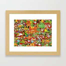 In Christmas melt into the crowd and enjoy it Framed Art Print