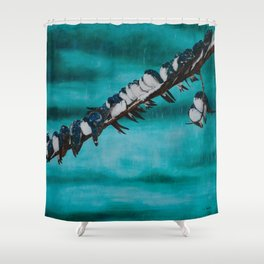 Birds of a Feather by Teresa Thompson Shower Curtain