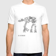 Star Wars Vehicle AT-AT Walker White Mens Fitted Tee SMALL
