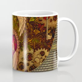 Steampunk, heart with wings Coffee Mug