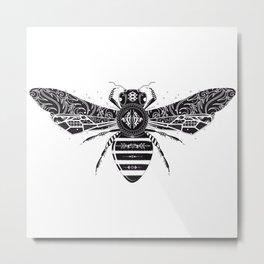 ornate bee Metal Print