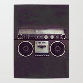 Retro Boombox Poster