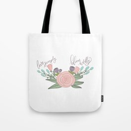 Live Simply Floral Art Tote Bag
