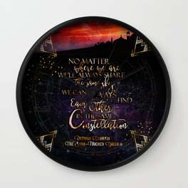 Constellation - The Star Touched Queen Wall Clock