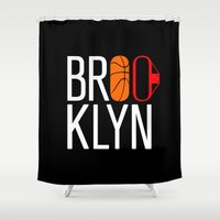 brooklyn Shower Curtains featuring Brooklyn by David Bastidas