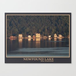Houses on the Newfound Lake Canvas Print
