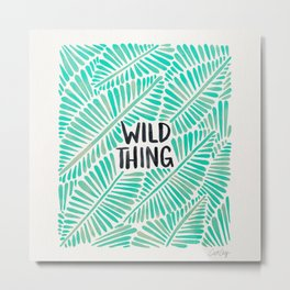 Wild Thing – Mint Palette Metal Print