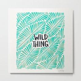 Wild Thing – Mint Palette Metal Print