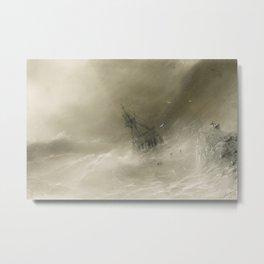IVAN KONSTANTINOVICH AIVAZOVSKY - Shipwreck Metal Print