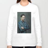 cumberbatch Long Sleeve T-shirts featuring Intense Cumberbatch. by IntroFlect Studios