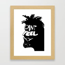 WeekndFace Framed Art Print