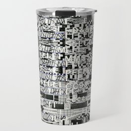 Confused Images Behind the Interface (P/D3 Glitch Collage Studies) Travel Mug
