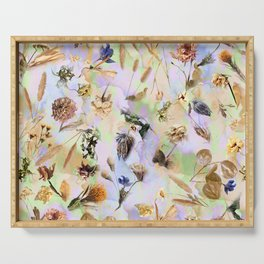 Dried Flowers Serving Tray