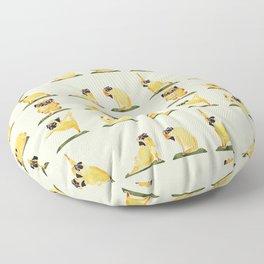 Pug Yoga Watercolor Floor Pillow