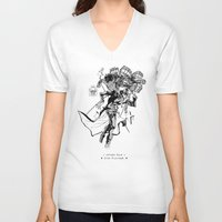 jojo V-neck T-shirts featuring Jojo's Bizarre Adventure - Stardust Crusaders - Jotaro Kujo (Jojo) by AmaSan