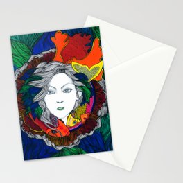 """Surgiendo entre peces"" Stationery Cards"