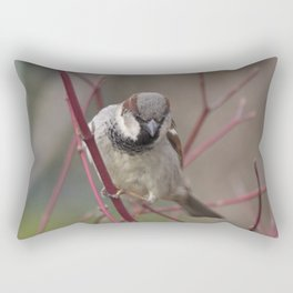 Brave House Sparrow Rectangular Pillow